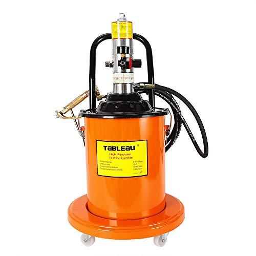 NICE CHOOSE Grease Pump, 20L 5 Gallons Air Operated High Pressure Grease Pump Kit with Gas-Pressure Meter, Pneumatic Universal Gun & Hydraulic Hose