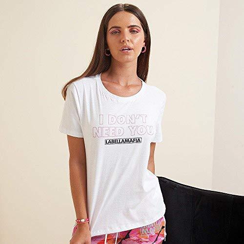 T-shirt Camo Branca, Cor: Branco, Tamanho: G