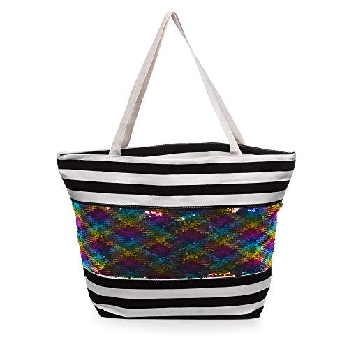 FIRENZE ARTEGIANI. Veridiana Borsa Shopper Donna Tessuto tela Premium stampato 55x14x38 cm Colore: nero.