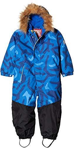 Ticket to Heaven Schneeoverall Luca m. Abnehmbarer Kapuze Allover Traje para Nieve, Azul Blue Lolite 3100, 80 cm Unisex bebé