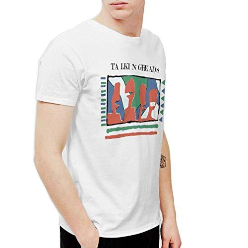 Heren pratende hoofden - Geel 80's T-shirt met korte mouwen wit
