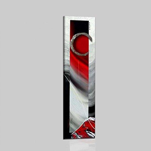 quadri moderni soggiorno in rilievo QUADRI ASTRATTI VERTICALI ROSSO GRIGIO NERO CON MATERICO RILIEVO DIPINTI A MANO SU TELA INTELAIATI PRONTI PER ESSERE APPESI SALONE UFFICIO SOGGIORNO CUCINA ALTA QUALITA' MADE IN ITALY - RUBIN