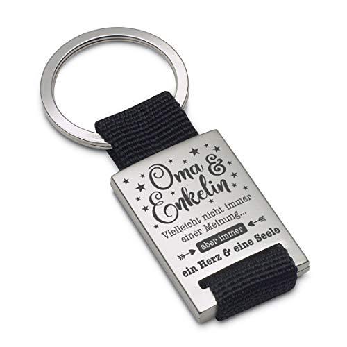 Lieblingsmensch Schlüsselanhänger Modell: EIN Herz und eine Seele (Oma - Enkelin) - Textil