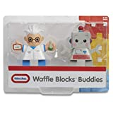 Little Tikes Waffle Blocks Double Figure Pack- Scientist/Robot, Toys for Kids, 1 Year & Above, Activity, Kids Learning Toys
