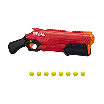 NERF Rival Takedown XX-800 Blaster -- Pump Action Breech-Load 8-Round Capacity 90 FPS 8 Official Rival Rounds -- Team Red