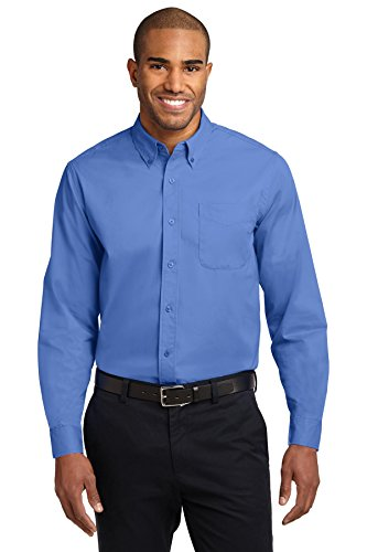 Port Authority Men's Tall Long Sleeve Easy Care Shirt 3XLT Ultramarine Blue