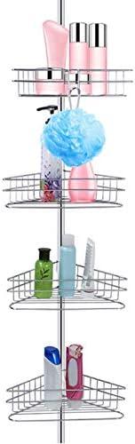 4 Layer Corner Shower Caddy Bathroom Shelf Adjustable Baskets Corner Caddy Storage Rack Shelf product image