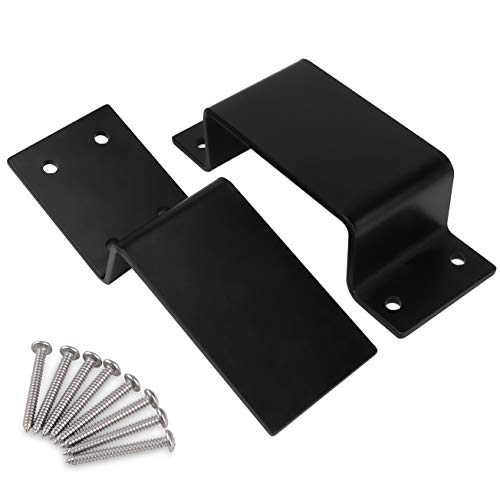 Heavy Duty Bar Security Holder Bracket,Using with Standard 2 X 4's (1 Set Included Closed and Open Brackets with Screws)