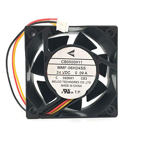 60x60x25mm MMF-06H24SS CX3 24V 0.09A 3Wire 6cm melco technorex Fan,MMF-06H24SS-CX3 CB0500H11 Cooling Fan