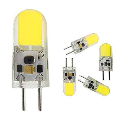 Tech Arts G6.35 Lampadine a LED 4W 12V Equivalenti 40W Lampadine Alogene, Bianco Freddo 6000K, Angolo Del Fascio Di 360°G6.35 Bi-Pin LED Non Dimmerabile (Confezione da 5)