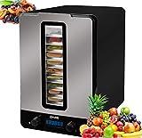dms - da-03 essiccatore • disidratore per frutta secca a 10 piani • 550 watt • temperatura regolabile • timer fino a 48 ore • temperatura: 40-70 °c • facile da pulire • nero