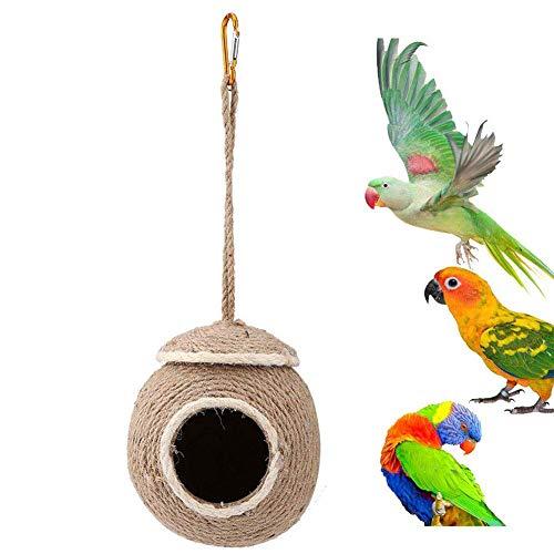 Kawosh Kokosnoot vogel nest nest voor papegaai parkieten budgie kanarie vinken hamsters, ratten vogel kooi accessoires vogel huis
