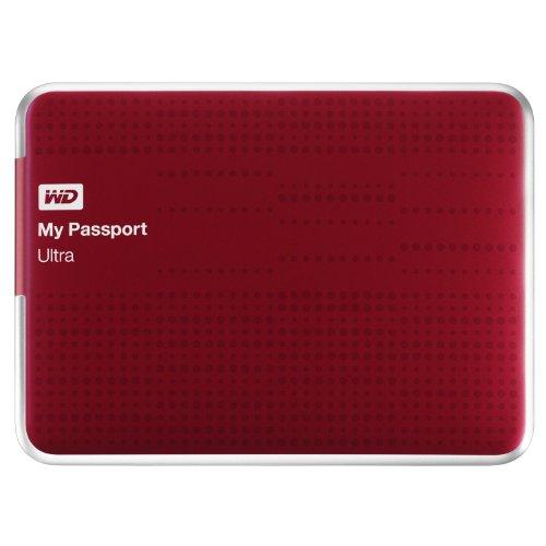 Western Digital My Passport Ultra 1TB–Externe Festplatten (1000GB, USB 3.0, HDD, verkabelt, 3.0, 5000Mbit/s) rot