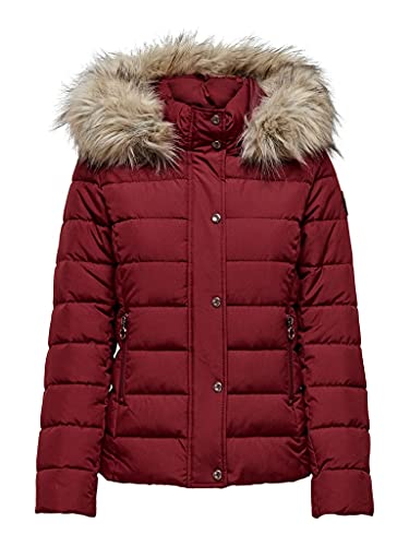 Only Onlluna Quilted Jacket CC Otw Chaqueta Acolchada, Merlot, M para Mujer