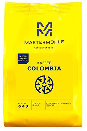 Martermühle I Kaffee Colombia I Kaffee ganze Bohnen I Premium Kaffeebohnen aus Kolumbien I Schonend geröstete Kaffeebohnen I Kaffeebohnen säurearm I 100% Arabica Kaffeebohnen I 500g