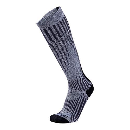 UYN Herren SKI Cashmere Shiny Socks, Celebrity Silver, 45/47