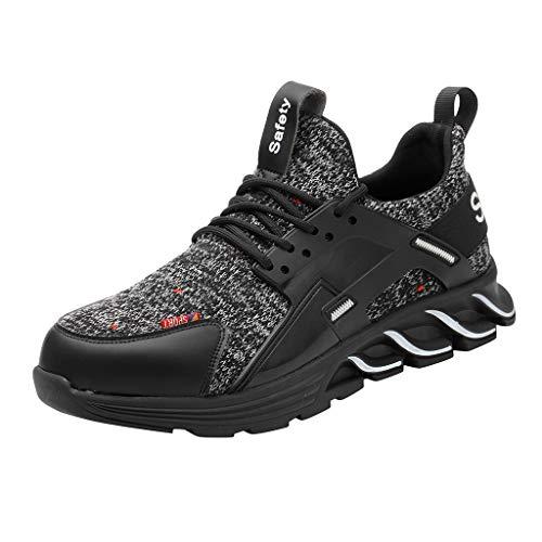 Luoluoluo veiligheidsschoenen voor dames heren outdoor schoenen lekvrije werkschoenen werk sneaker maat 36-48
