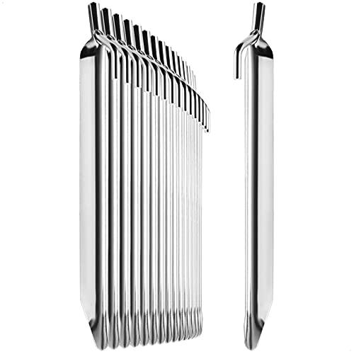 com-four® 16x Zelt-Heringe aus Stahl - robuste Erdnägel in V-Form für Camping und Outdoor - ideal für normalen Boden