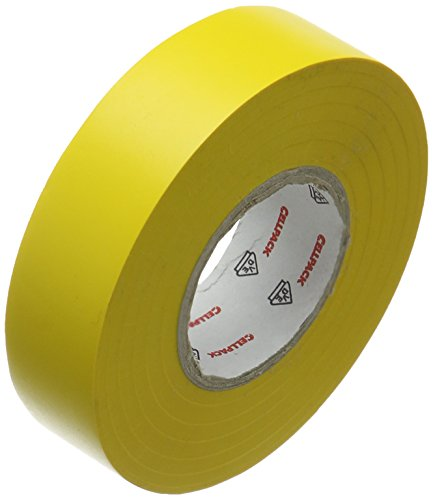 Cellpack, Nr. 128, 19 m x 25 mm x 0,15 mm (Länge x Breite x Dicke), Yello, PVC Isolierband