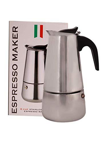 TOUA Stainless Steel Espresso Maker Coffee Perculator, 6 Cups