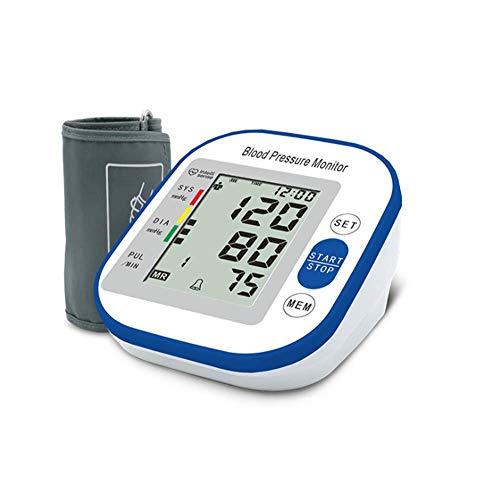 zhangchao Misuratore Pressione Arteriosa di:accuratezza Automatica del Braccio Superiore BP Monitoraggio della Frequenza Cardiaca E Pulsazione, Misuratore Memoria A 2 Utenti, 99 Letture con