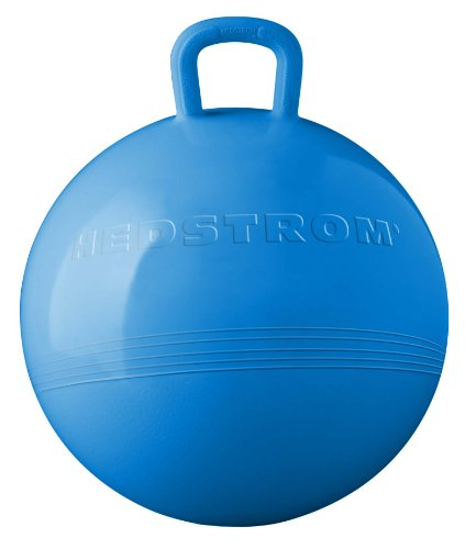 Hedstrom Blue Hopper Ball, Kid's ride-on toy, Bouncy hopping ball with handle - 15 Inch