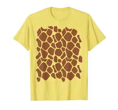 Disfraz de jirafa divertido lindo animal Halloween Camiseta