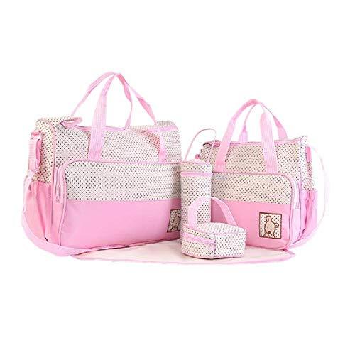 NO BRAND 5pcs / set Trajes de bolsa de pañales para bebés multifunción para mamá Porta biberones Madre Mamá Cochecito Maternidad Bolsas de pañales Conjuntos