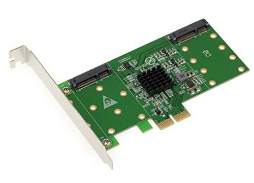 Kalea Informatique Controller-Karte PCIe mSATA 3.0–4Ports–RAID 0/1/10–Chipsatz Marvell 88se9230–Professionelle/Komponenten, hochwertig–Treiber vorinstalliert für Windows/Mac/Linux.