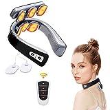 Masajeador cervical, masajeador eléctrico para cuello inteligente, fisioterapia, electromagnética profunda, multifuncional, masaje de 6 modos, alivia el dolor, para uso doméstico en la oficina