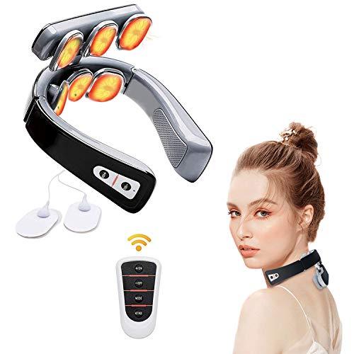 Nackenmassagegerät,Intelligentes Nackenmassagegerät mit Wärmefunktion, Elektrisches Puls Rückenmassagegerät, Schmerzlinderung bei Nacken Schulter, für Zuhause, Büro, Reise
