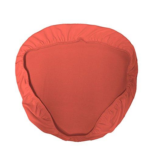 La Lino Chiavari Silla Funda para cojín, Microfibra/poliéster/Spandex, Color Negro, Pack de 4, Coral, 38.1 x 38.1 x 0.05 cm