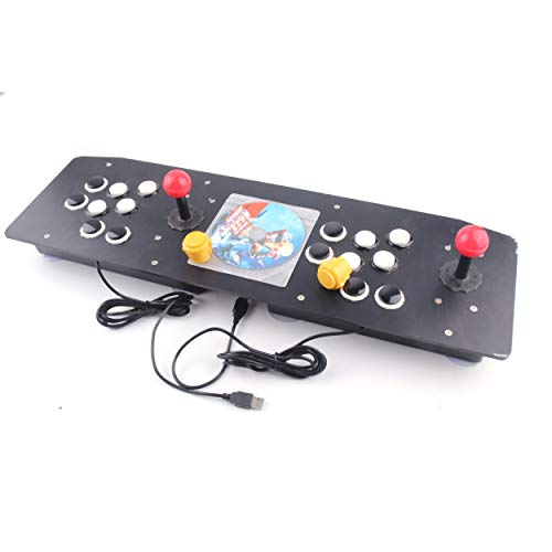 Lorenlli Diseño ergonómico Doble Arcade Stick Juego de Video Palanca de Mando Controlador Gamepad para Windows PC Disfrute del Juego Divertido