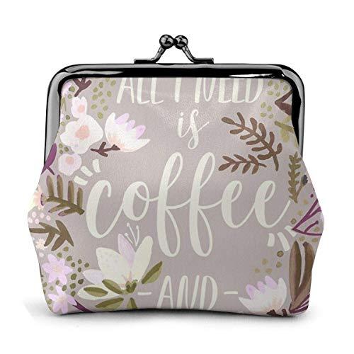 Kaffee und Concealer Spring Palette Münzbeutel Leder Geldbeutel Verschluss Lo Mini Kosmetik Make-up Taschen für Frauen und Mädchen