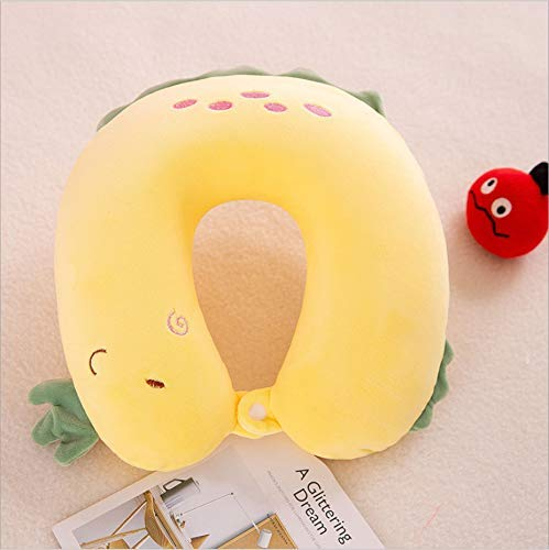 Pluchen speelgoed, U-vormige Pillow Memory Cotton Travel Pillow multifunctionele nekkussen Om meisjes te sturen Gifts 30cm Dinosaur Geel Huangwei7210