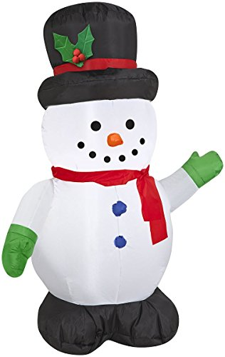 Gemmy Gemmy Snowman Christmas Inflatable White Polyester 1 pk