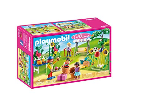 PLAYMOBIL Dollhouse 70212 Fiesta de Cumpleaños Infantil, A Partir de 4 Años
