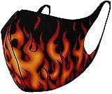 Spiral - Tribal Flames - Fashion Face Masks - L Black