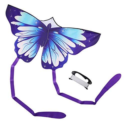 Toyvian Mariposa Kite, bonita cometa de mariposa para niños, fácil de volar cometa para la familia, juegos y actividades al aire libre (viene con cuerda de 100 m).