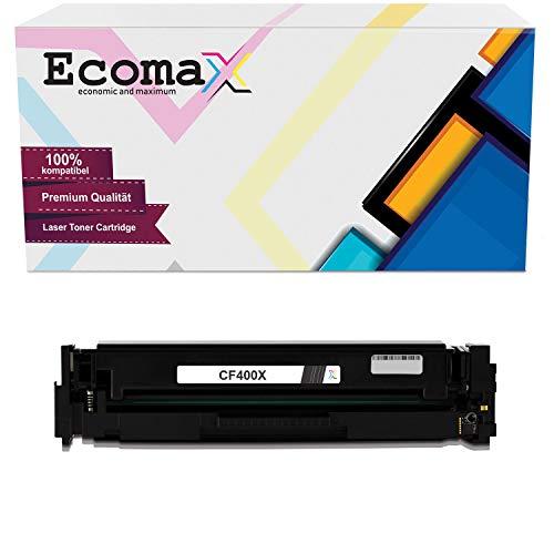 Ecomax Kompatibel Tonerkartusche als Ersatz für HP 201X CF400X für HP Color Laserjet Pro MFP M277dw M277n M274n Laserjet Pro M252dw M252n (Schwarz)