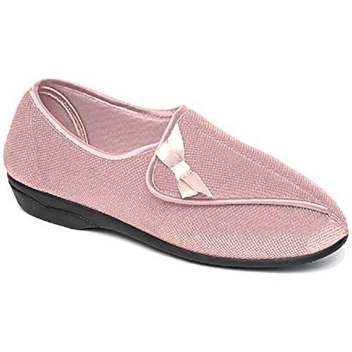 Dr. Keller - Zapatillas de Deporte para Mujer con Forro de Piel ortopédica y Forro de Piel para diabética, Talla 38-38, Color Rosa, Talla 39 EU