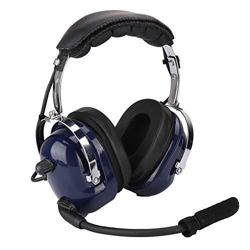 Sutinna Aviation Headset, Headset für die allgemeine Luftfahrt Dual-GA-Stecker-Pilotenkopfhörer, 3,5-mm-Headset zur Geräuschreduzierung-Luftfahrt für Piloten mit Doppelkanal-Audio-Lautsprecher