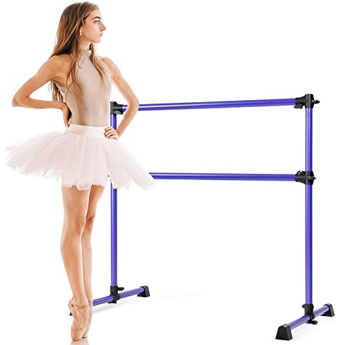 Goplus Sbarra Danza Classica con Altezza Regolabile per Allenamento, Barra Doppia da Ballo in...