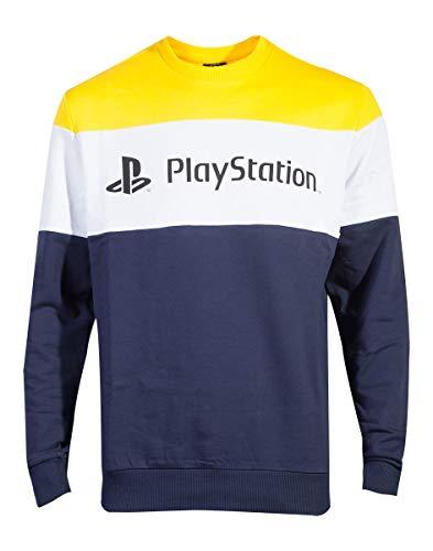Playstation Multicolor Colour Block Pullover (X-Large, Dunkelblau)