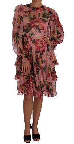 Dolce & Gabbana Rosa Floreale Rose A-Line Abito Shift