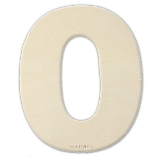 4 Wooden Number 4mm Thick About 3-1/4 Wide Number (0) Unfinished Plywood Number