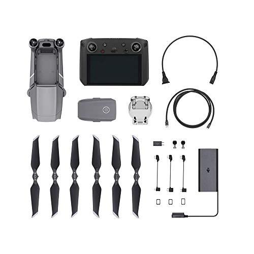 """DJI Mavic 2 Zoom Drone + Smart Controller - Drone con Zoom Óptico 24-48 mm, Sensor CMOS de 1/2.3"""" y 12 MP, Fotos de Superresolución de 48 MP, Smart Controller con Monitor 5.5"""" Ultra-brillante 1080p"""