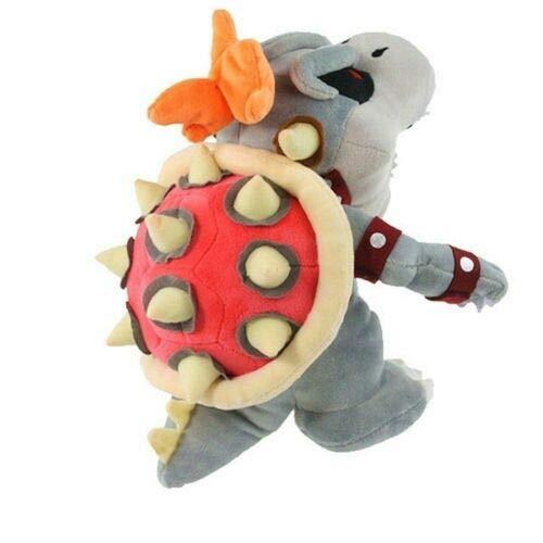 Meijiada Super Mario Bros Dry Bowser Bone Skeleton Koopa Plush Toy Stuffed Animal 9 Inches