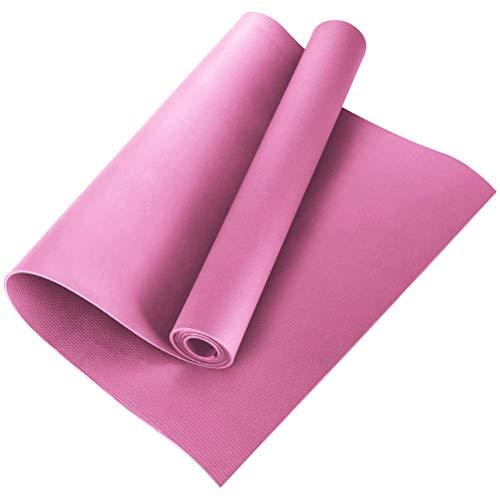 Esterilla de gimnasia, esterilla de yoga acolchada y antideslizante, para pilates, fitness con correa fija, esterilla de ejercicios de EVA para yoga, pilates, fitness, 173 x 60 x 0,4 cm
