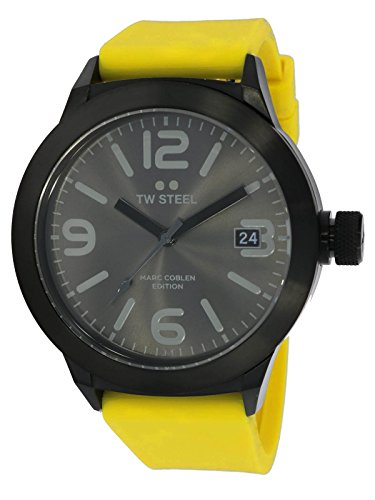 TW Steel Marc Copp Edition met siliconen band 45 MM Grey Sunray/Yellow MCPR12